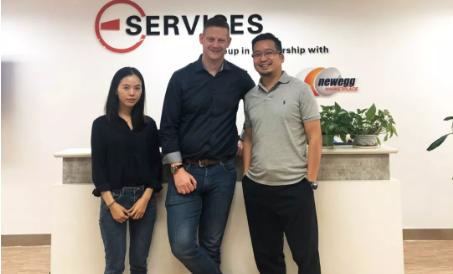从左至右:Jen、David Swift、Alan Lim(ESG CEO)